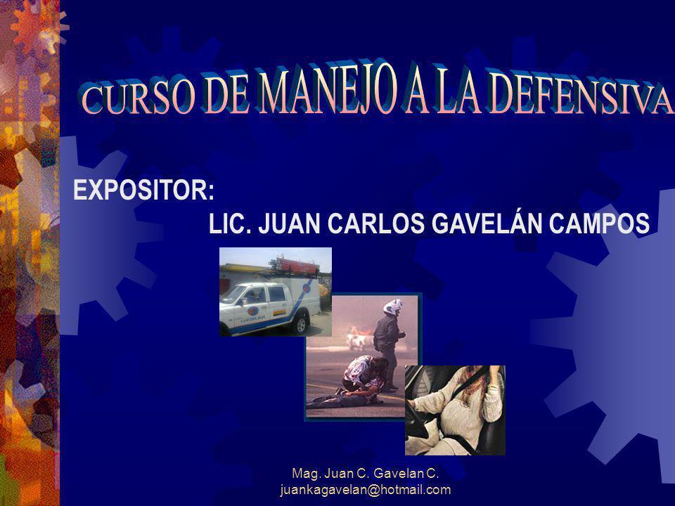 Mag. Juan C. Gavelan C. juankagavelan@hotmail.com EXPOSITOR: LIC. JUAN CARLOS GAVELÁN CAMPOS