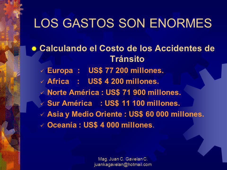Mag. Juan C. Gavelan C. juankagavelan@hotmail.com Y.....¿ Cuántos incidentes ?