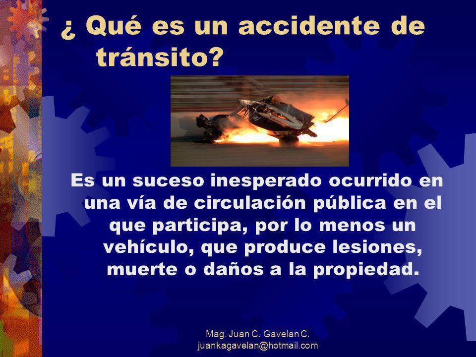 Mag. Juan C. Gavelan C. juankagavelan@hotmail.com LOS GASTOS SON ENORMES Calculando el Costo de los Accidentes de Tránsito Europa : US$ 77 200 millone