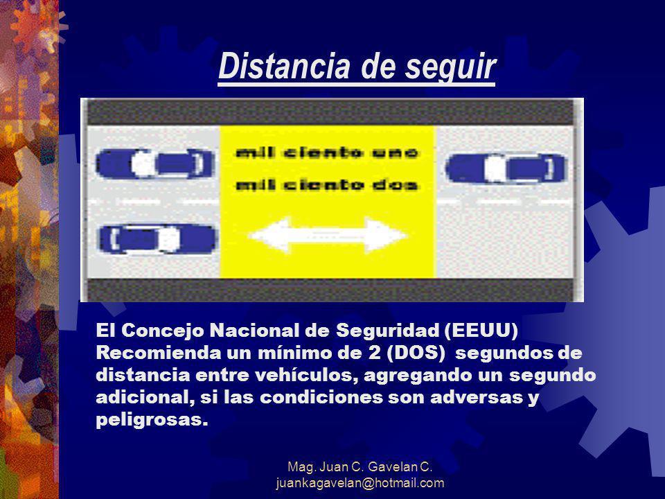 Mag. Juan C. Gavelan C. juankagavelan@hotmail.com La siguiente tabla resume los porcentajes de reducción de lesiones por accidentes gracias al uso de