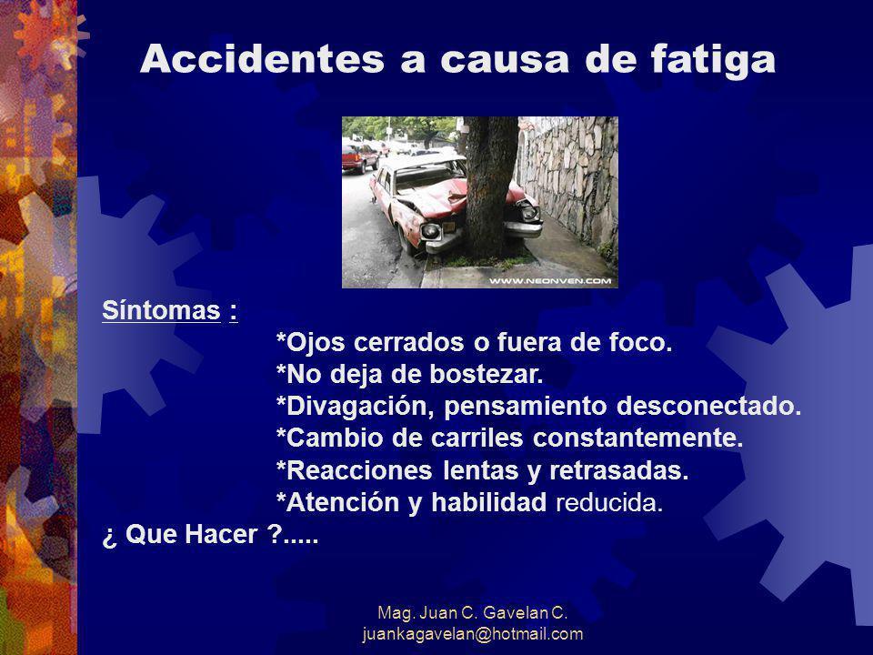 Mag. Juan C. Gavelan C. juankagavelan@hotmail.com Saber Controlarse Evitar confrontaciones con otros conductores agresivos. Ud. es la única persona qu