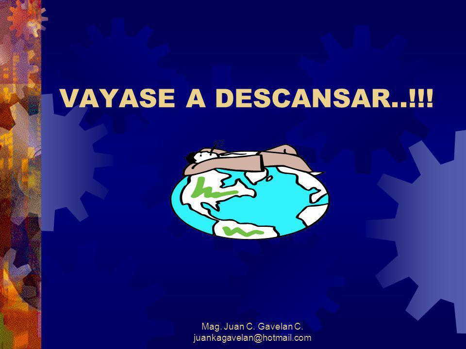 Mag. Juan C. Gavelan C. juankagavelan@hotmail.com Accidentes a causa de fatiga Síntomas : *Ojos cerrados o fuera de foco. *No deja de bostezar. *Divag