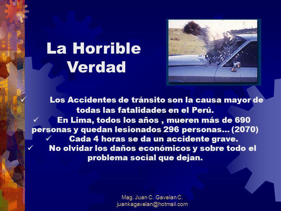 Mag.Juan C. Gavelan C. juankagavelan@hotmail.com Fórmula para Evitar Accidentes Saber.