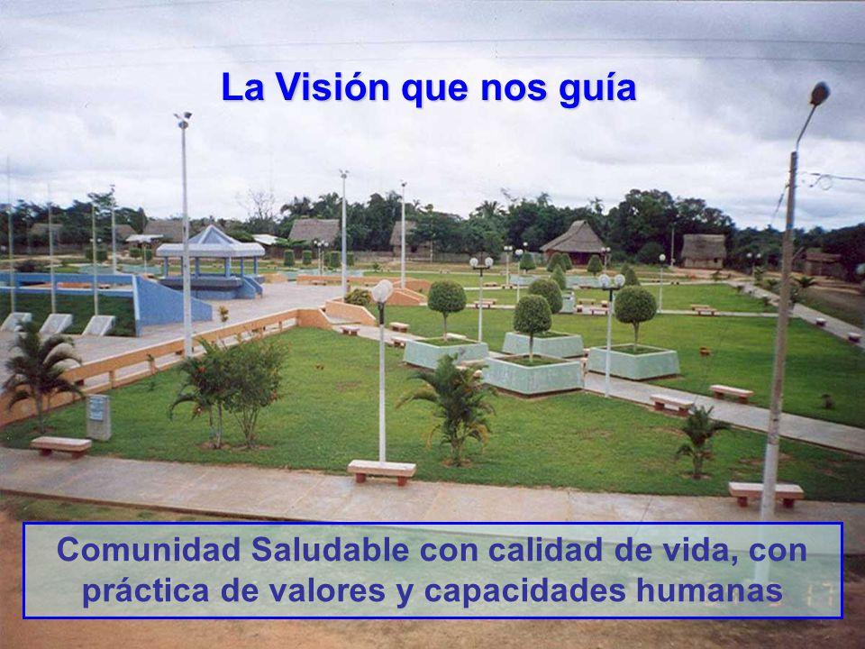 Comunidad Saludable con calidad de vida, con práctica de valores y capacidades humanas La Visión que nos guía