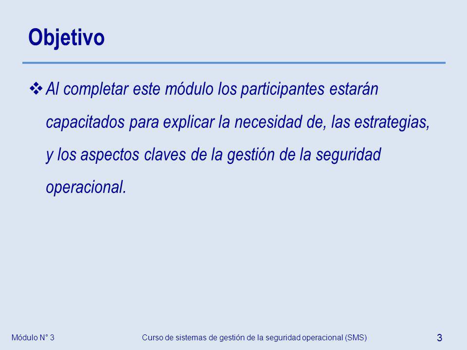 Curso de sistemas de gestión de la seguridad operacional (SMS) 34 Módulo N° 3 Preguntas y respuestas Introducción a la gestión de la seguridad operacional