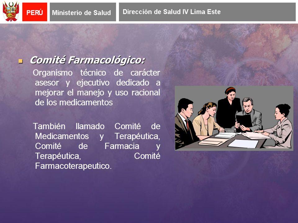 Listado nacional de medicamentos esenciales (RM Nº 062-2010/MINSA) Comités Farmacológicos Uso de la DCI Acceso a información sobre medicamentos Educación de usuarios Formación de RR.HH.