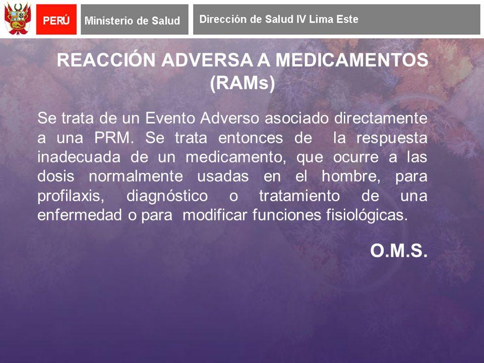 Se trata de un Evento Adverso asociado directamente a una PRM.