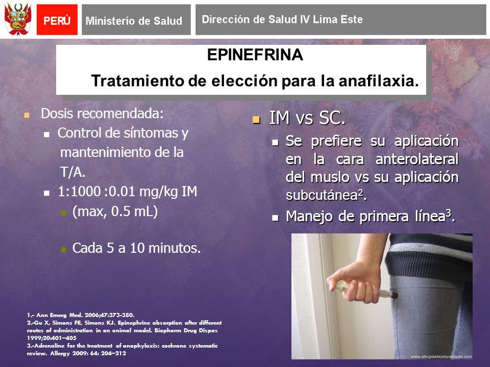 Dosis recomendada: Control de síntomas y mantenimiento de la T/A.