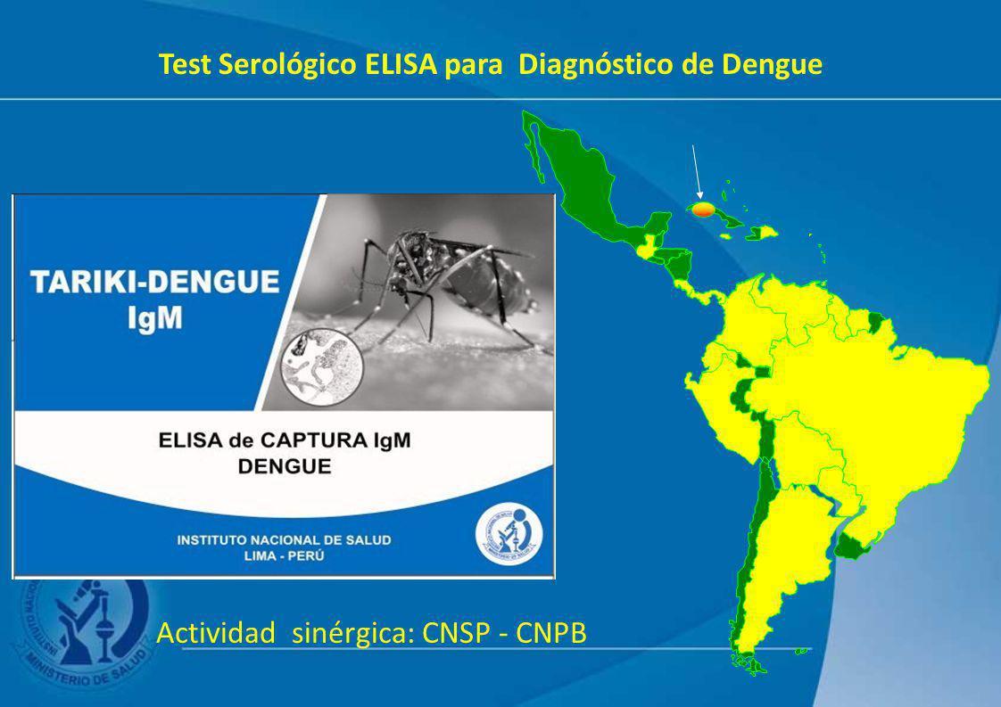 Test Serológico ELISA para Diagnóstico de Dengue Actividad sinérgica: CNSP - CNPB