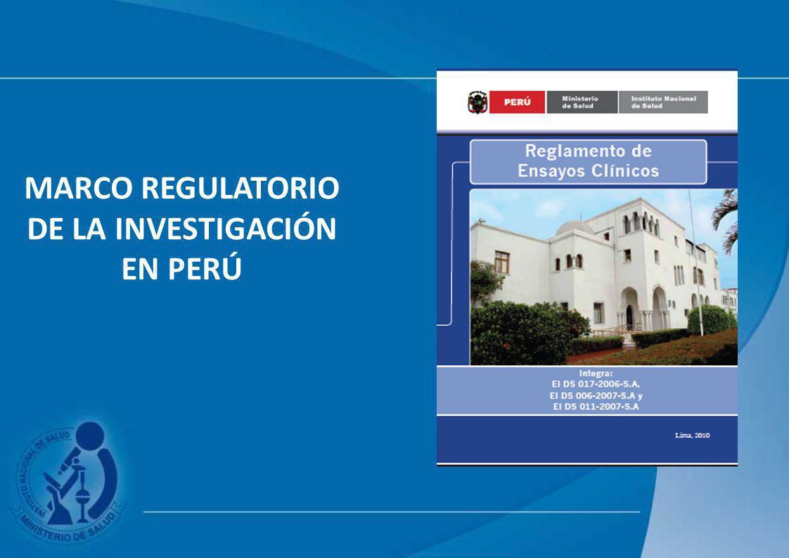 MARCO REGULATORIO DE LA INVESTIGACIÓN EN PERÚ