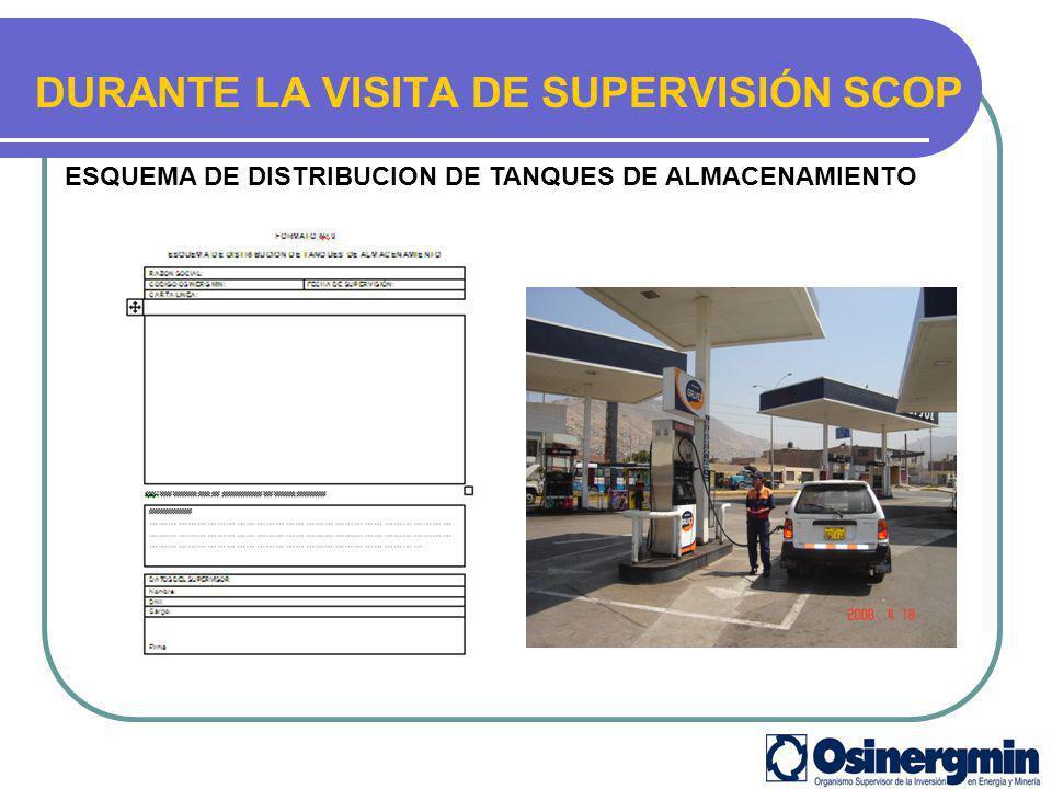 DURANTE LA VISITA DE SUPERVISIÓN SCOP ESQUEMA DE DISTRIBUCION DE TANQUES DE ALMACENAMIENTO