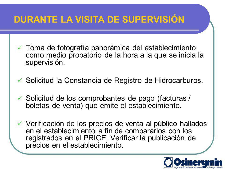 DURANTE LA VISITA DE SUPERVISIÓN VERIFICACIÓN DE PRECIOS DE VENTA EN SEGUNDA VISITA DE SUPERVISIÓN.