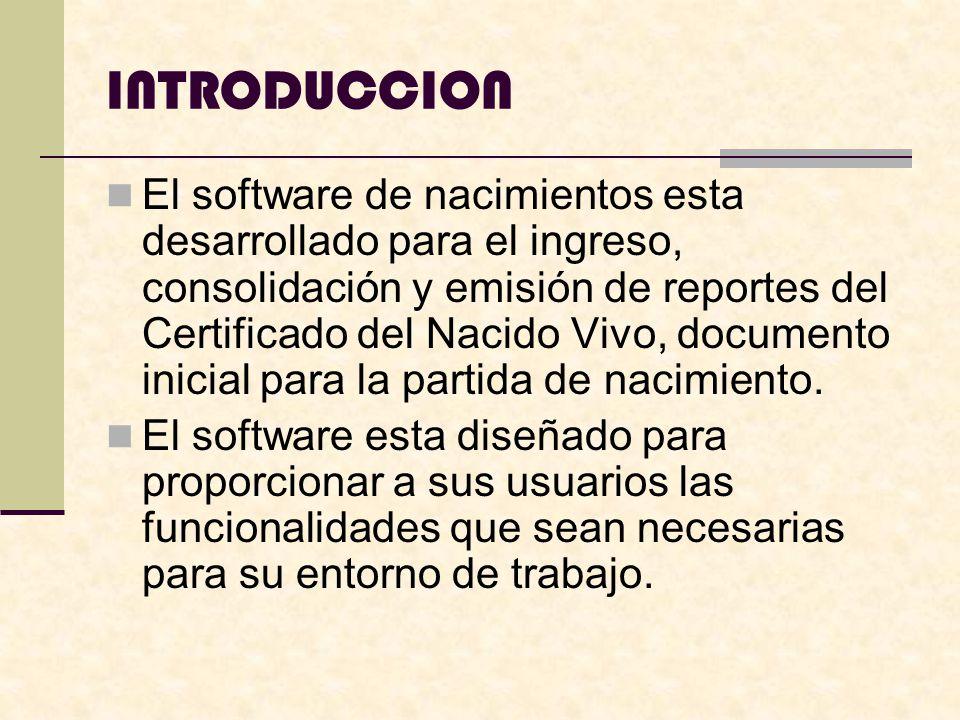 REQUERIMIENTOS DE HARDWARE La configuracion minima para que opere el sistema es: Procesador Pentium I 32 MB de memoria RAM Disco duro Monitor de colores(resol.