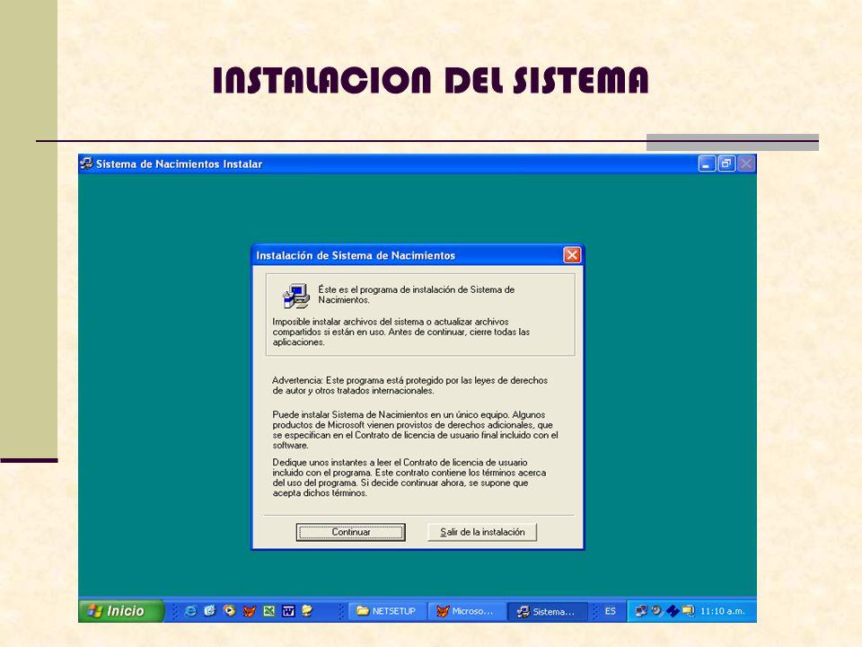 Luego se presentara la siguiente pantalla, en la cual usted puede ingresar el nombre del usuario, administrador y la organización, de lo contrario salir de la instalacion
