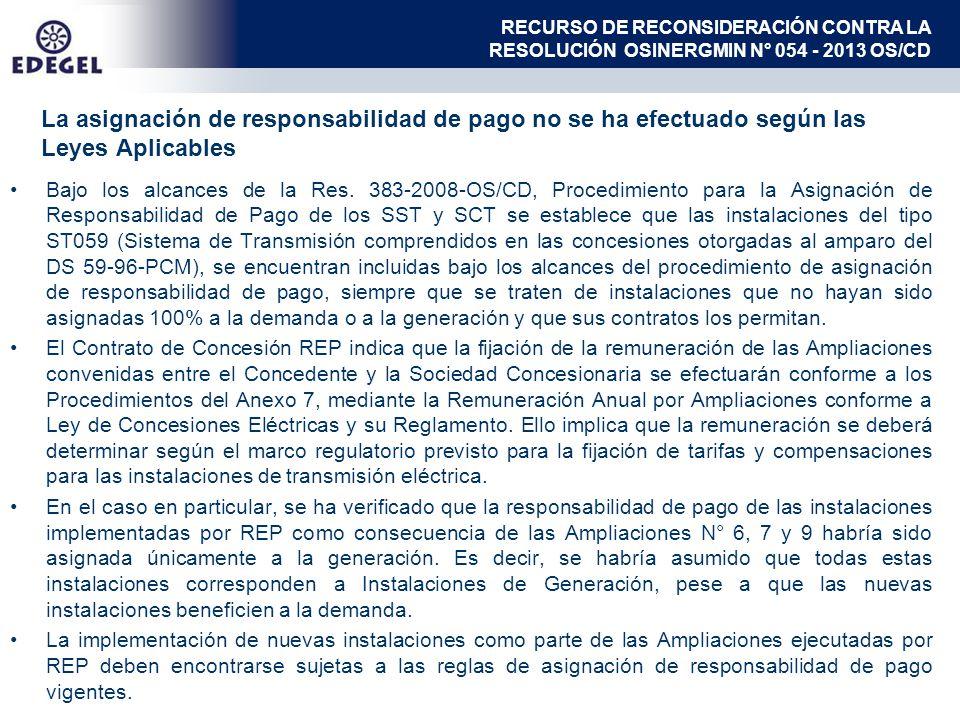 Bajo los alcances de la Res. 383-2008-OS/CD, Procedimiento para la Asignación de Responsabilidad de Pago de los SST y SCT se establece que las instala