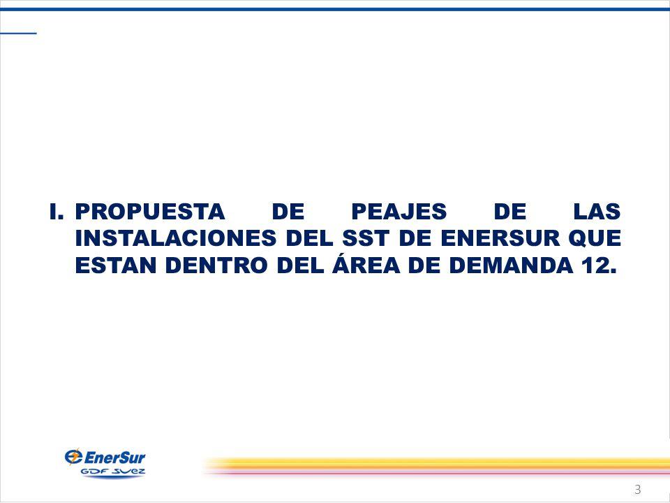 3 I.PROPUESTA DE PEAJES DE LAS INSTALACIONES DEL SST DE ENERSUR QUE ESTAN DENTRO DEL ÁREA DE DEMANDA 12.