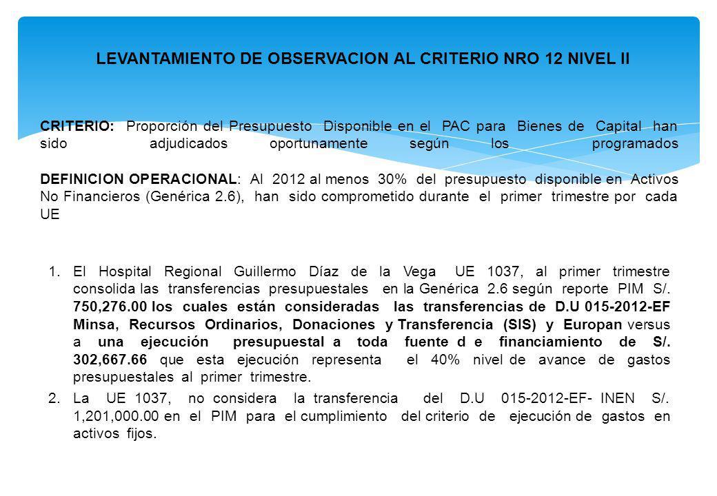 CRITERIO: Proporción del Presupuesto Disponible en el PAC para Bienes de Capital han sido adjudicados oportunamente según los programados DEFINICION O