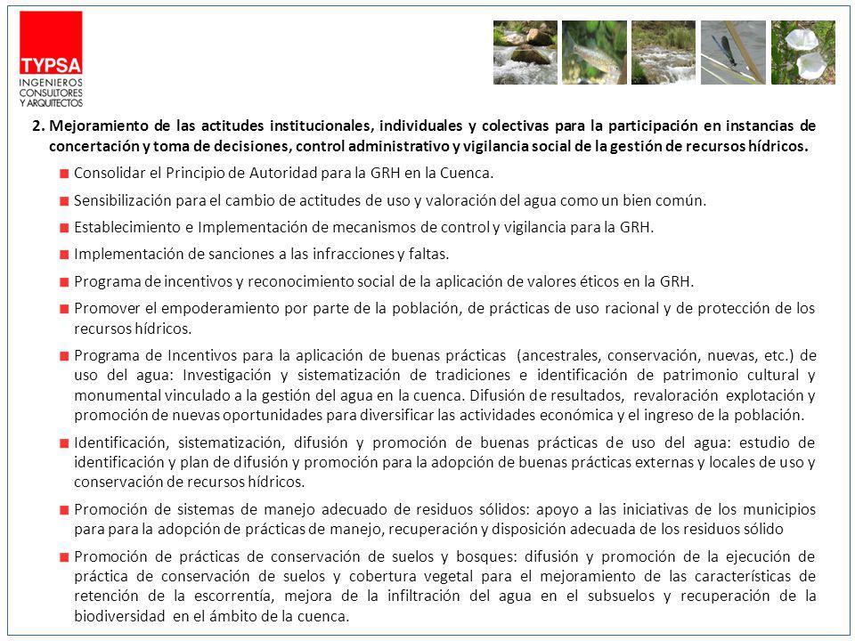 2.Mejoramiento de las actitudes institucionales, individuales y colectivas para la participación en instancias de concertación y toma de decisiones, c