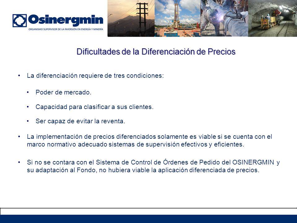 Dificultades de la Diferenciación de Precios La diferenciación requiere de tres condiciones: Poder de mercado. Capacidad para clasificar a sus cliente