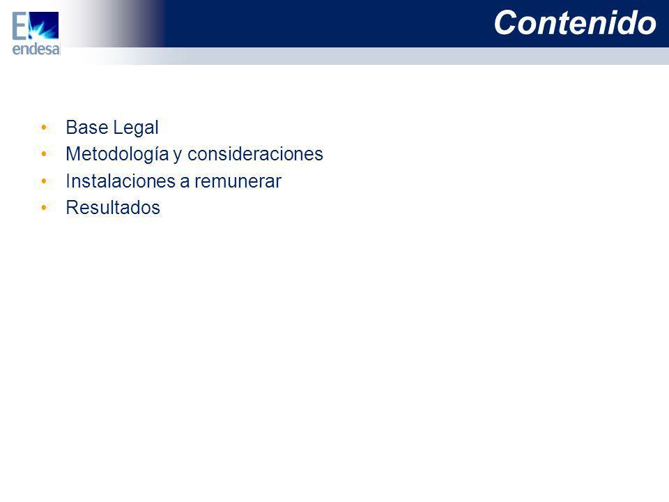 Base Legal Ley de Concesiones Eléctricas y su Reglamento.
