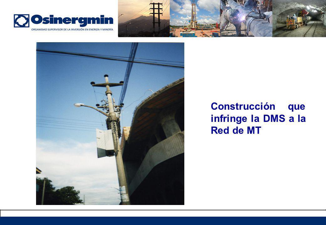 Construcción que infringe la DMS a la Red de MT