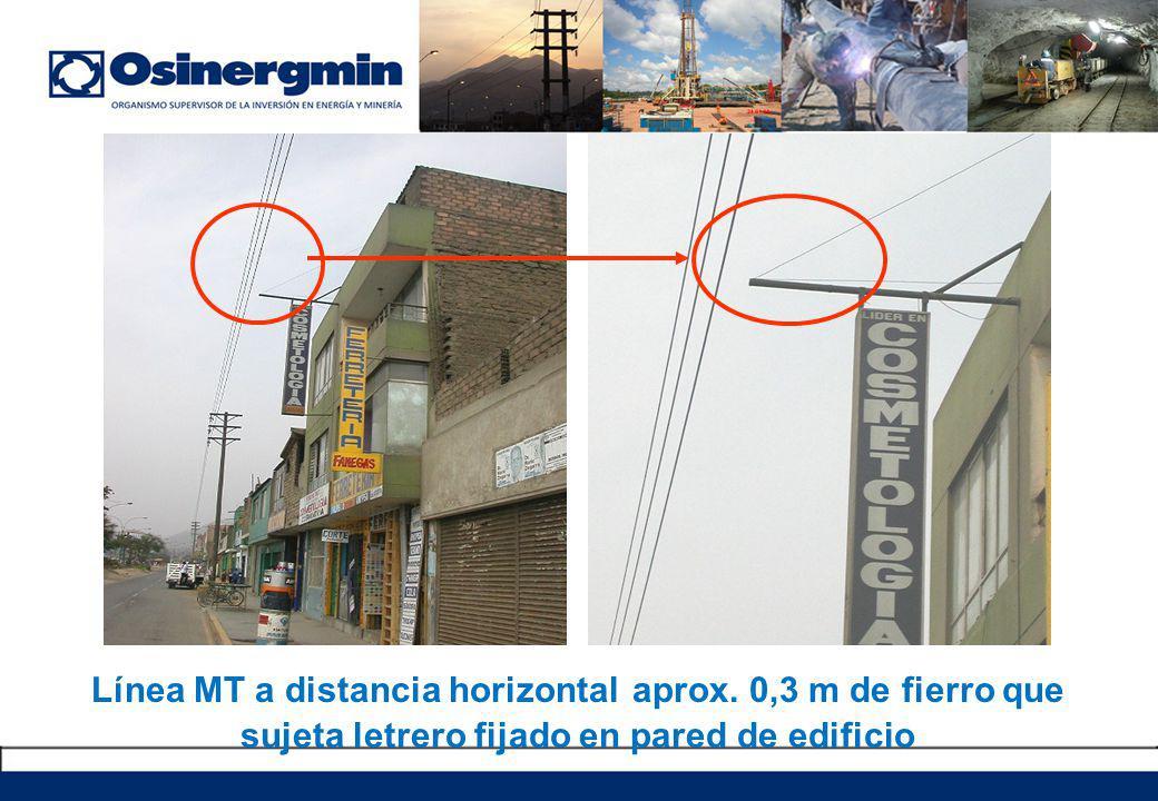 Línea MT a distancia horizontal aprox.