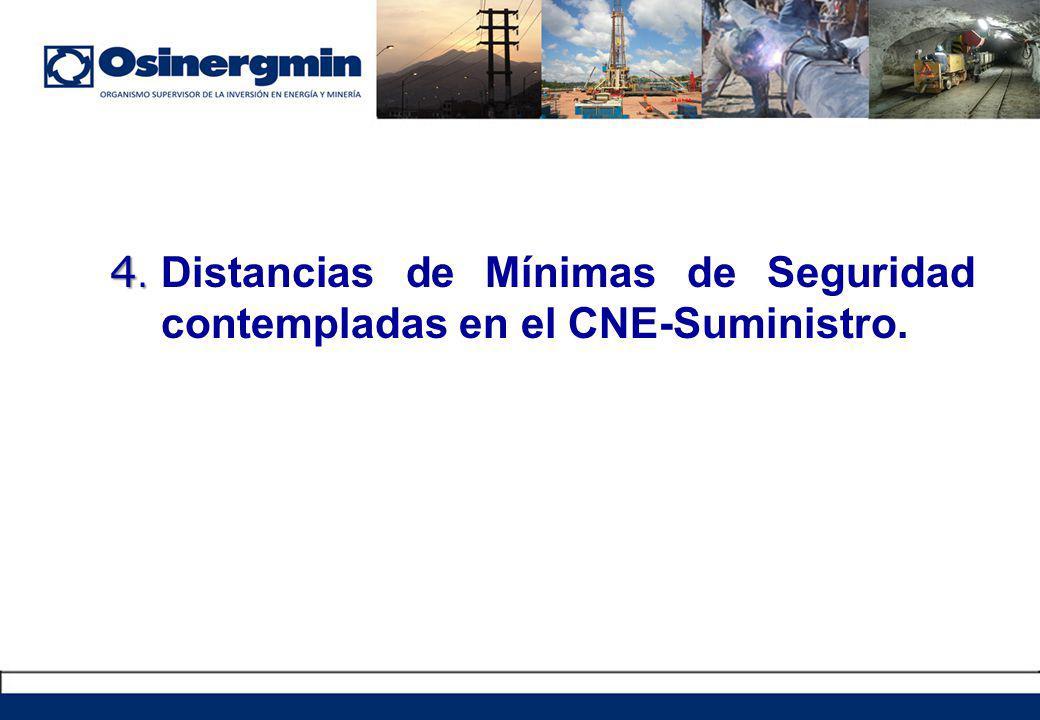 4. 4. Distancias de Mínimas de Seguridad contempladas en el CNE-Suministro.