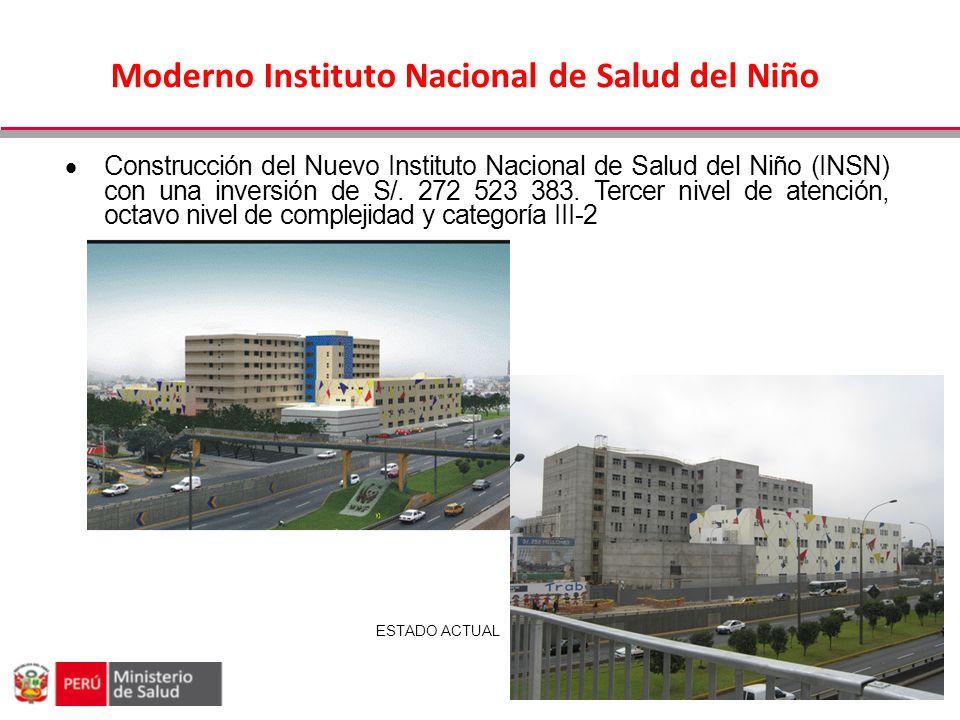 Moderno Instituto Nacional de Salud del Niño Construcción del Nuevo Instituto Nacional de Salud del Niño (INSN) con una inversión de S/. 272 523 383.