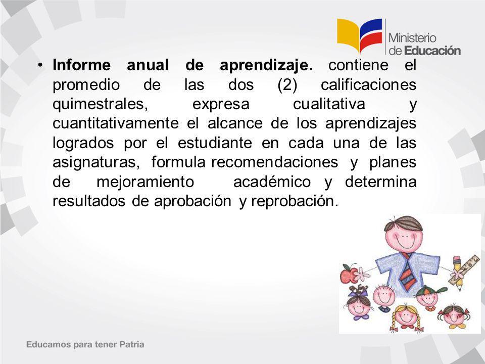 Informe anual de aprendizaje.