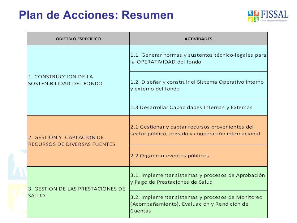 Plan de Acciones: Resumen