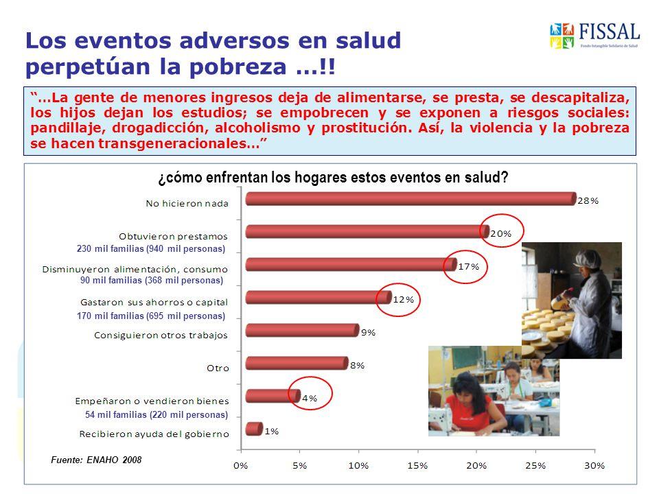 Los eventos adversos en salud perpetúan la pobreza …!.