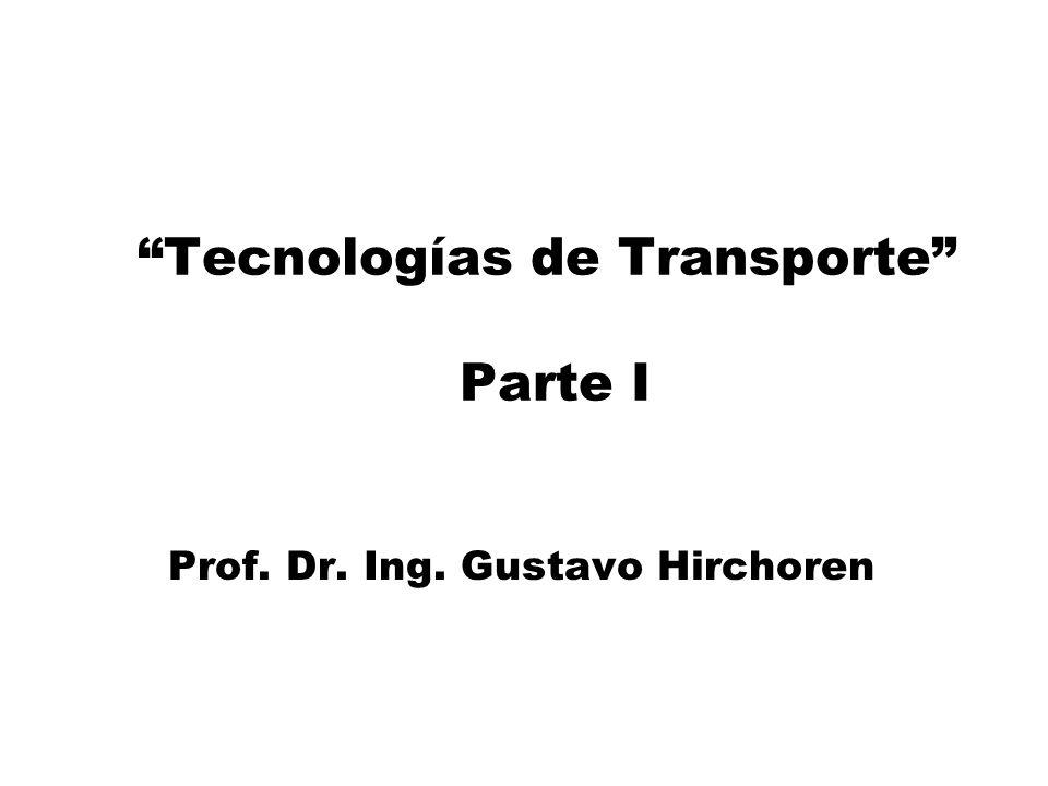 Tecnologías de Transporte Parte I Prof. Dr. Ing. Gustavo Hirchoren