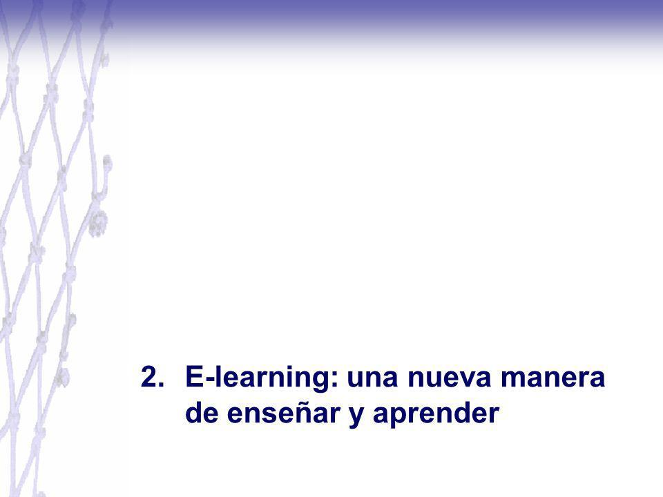 2. E-learning: una nueva manera de enseñar y aprender