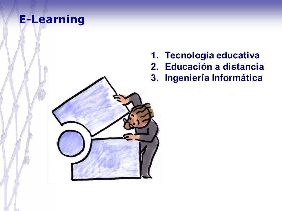 E-Learning 1.Tecnología educativa 2.Educación a distancia 3.Ingeniería Informática