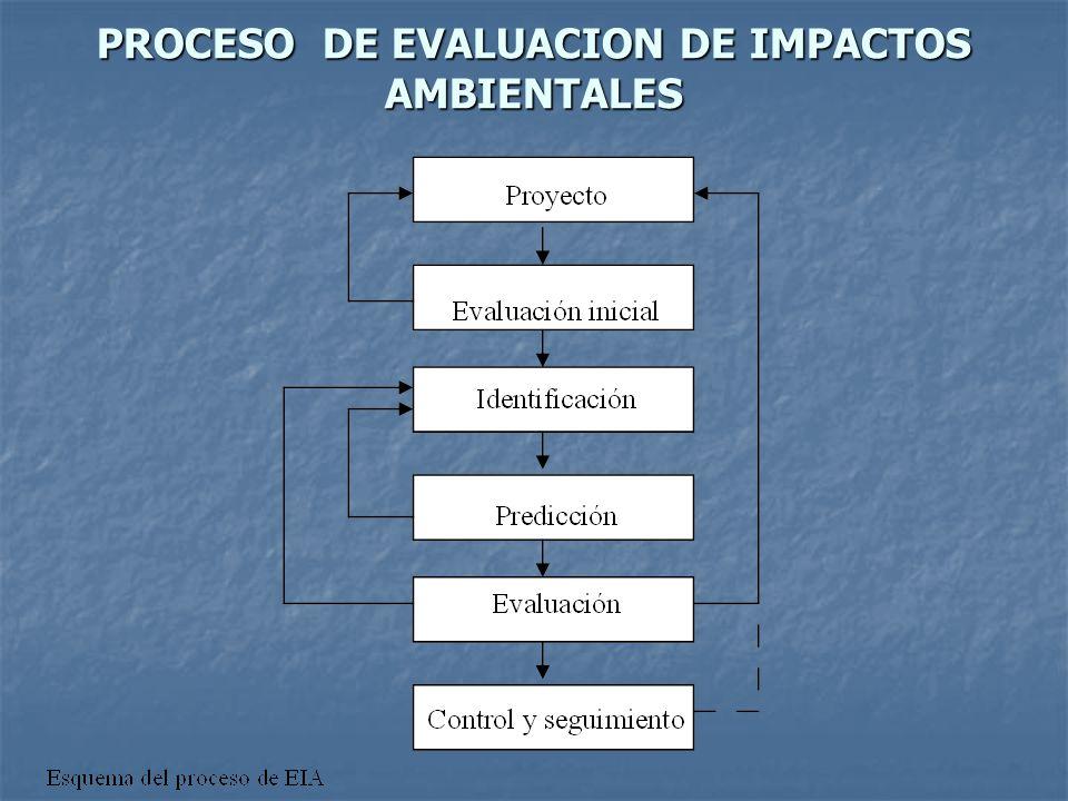 PROCESO DE EVALUACION DE IMPACTOS AMBIENTALES