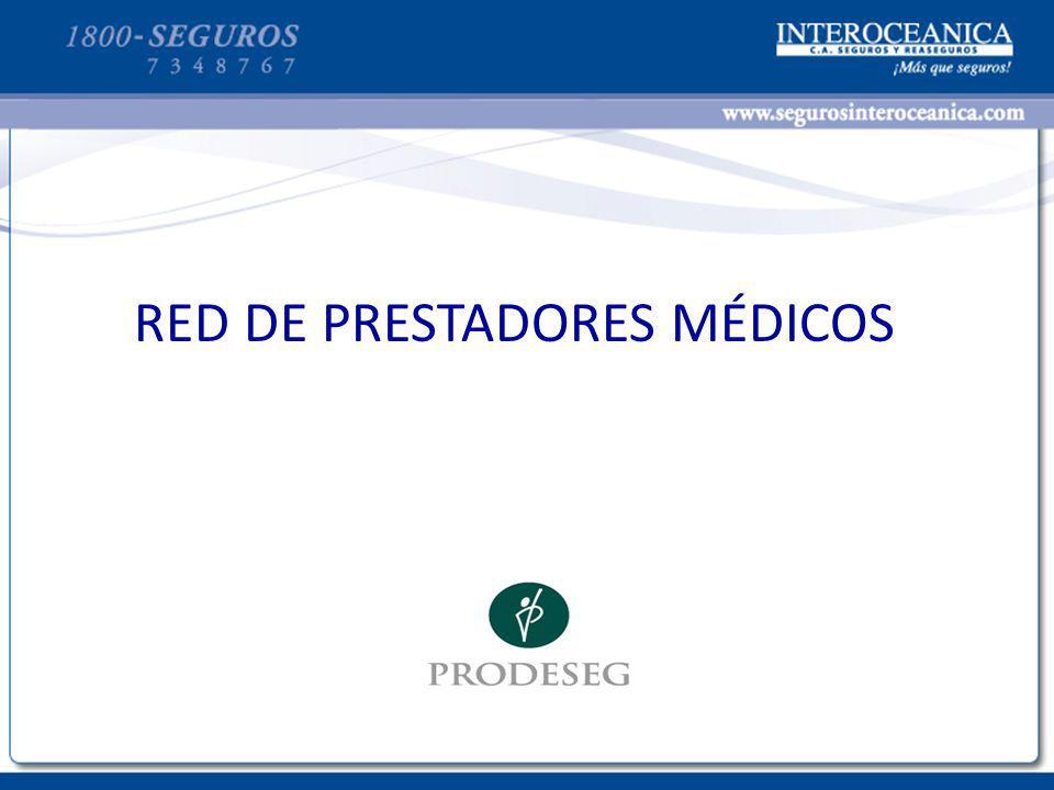 RED DE PRESTADORES MÉDICOS
