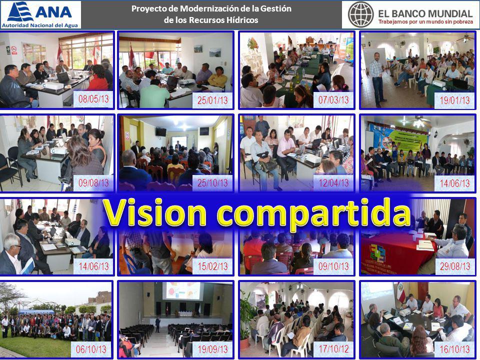 Proyecto de Modernización de la Gestión de los Recursos Hídricos 08/05/13 09/08/13 06/10/1319/09/13 17/10/12 16/10/13 14/06/13 15/02/13 14/06/13 12/04