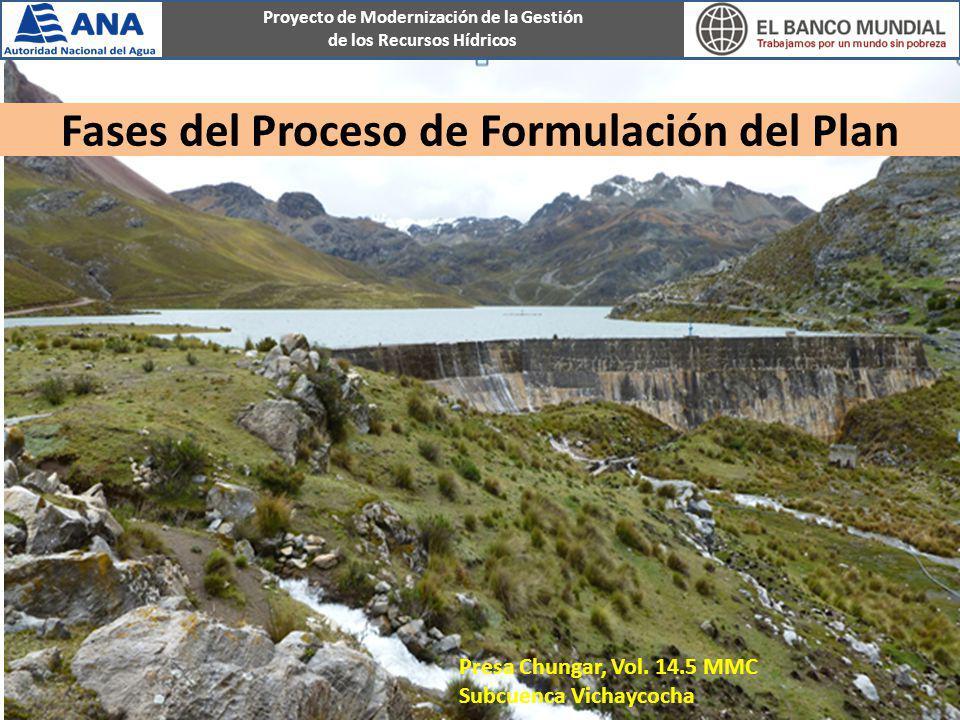 Proyecto de Modernización de la Gestión de los Recursos Hídricos Fases del Proceso de Formulación del Plan Presa Chungar, Vol. 14.5 MMC Subcuenca Vich
