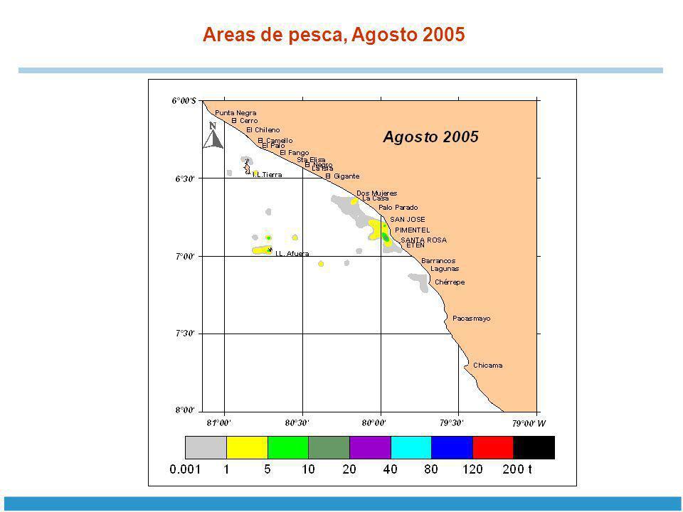 Areas de pesca, Agosto 2005