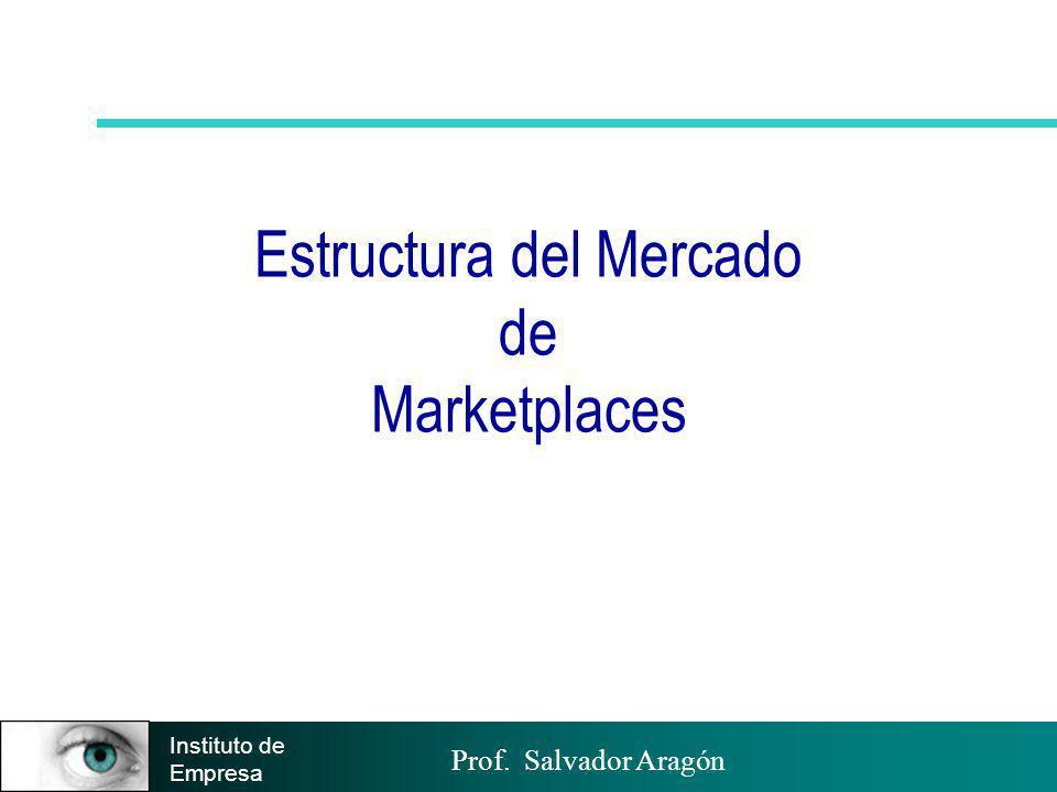 Prof. Salvador Aragón Instituto de Empresa Estructura del Mercado de Marketplaces