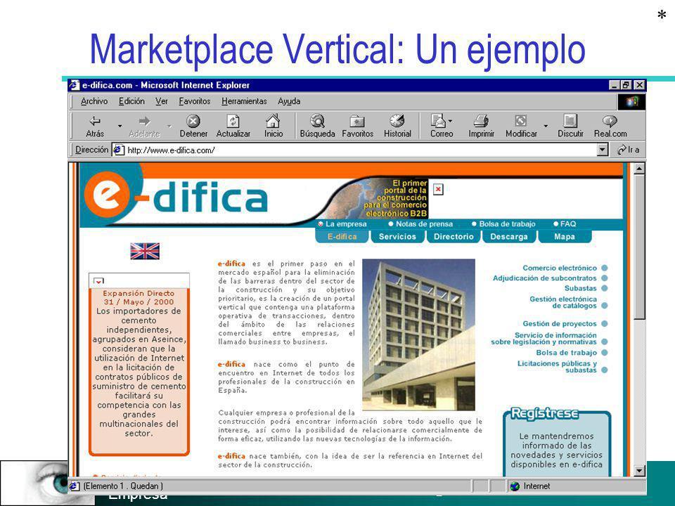 Prof. Salvador Aragón Instituto de Empresa Marketplace Vertical: Un ejemplo *