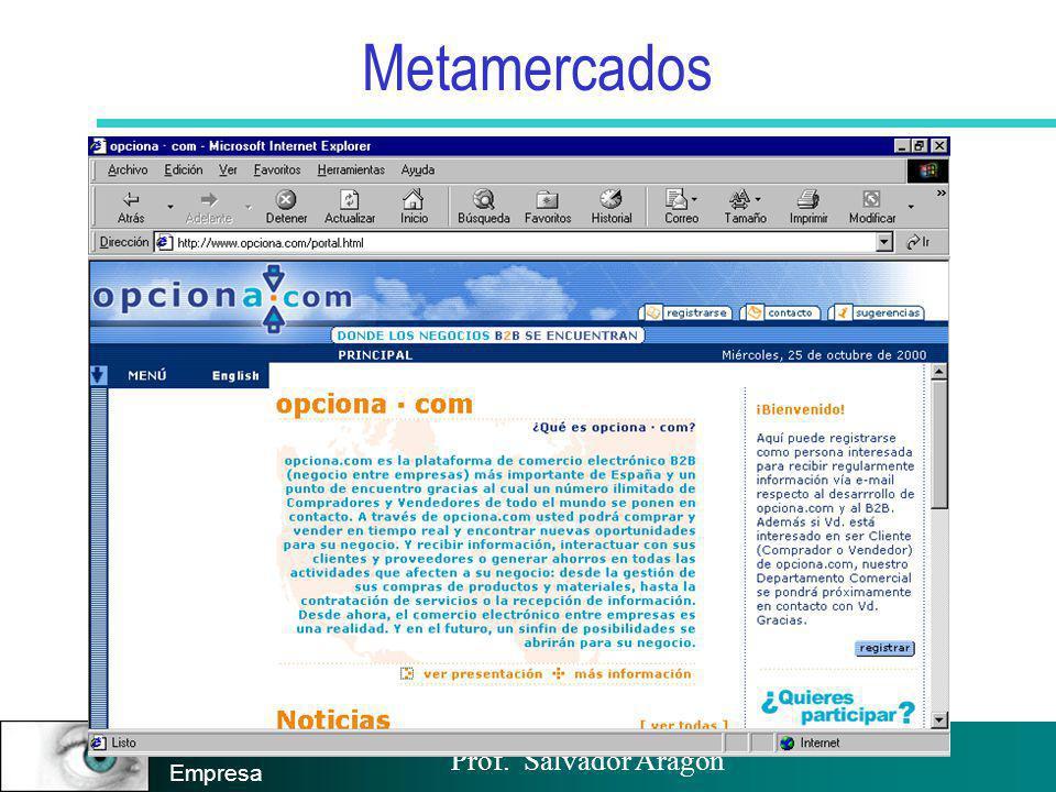 Prof. Salvador Aragón Instituto de Empresa Metamercados