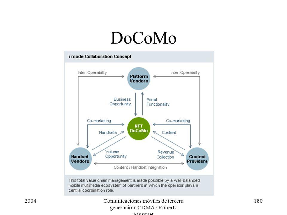 2004Comunicaciones móviles de tercera generación, CDMA - Roberto Murguet 180 DoCoMo
