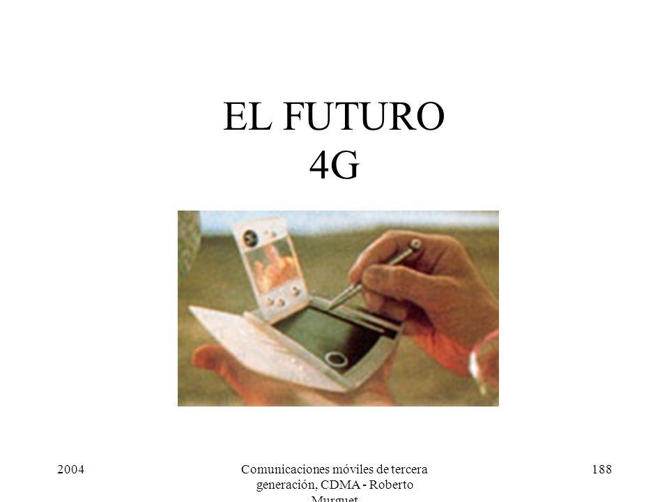 2004Comunicaciones móviles de tercera generación, CDMA - Roberto Murguet 188 EL FUTURO 4G