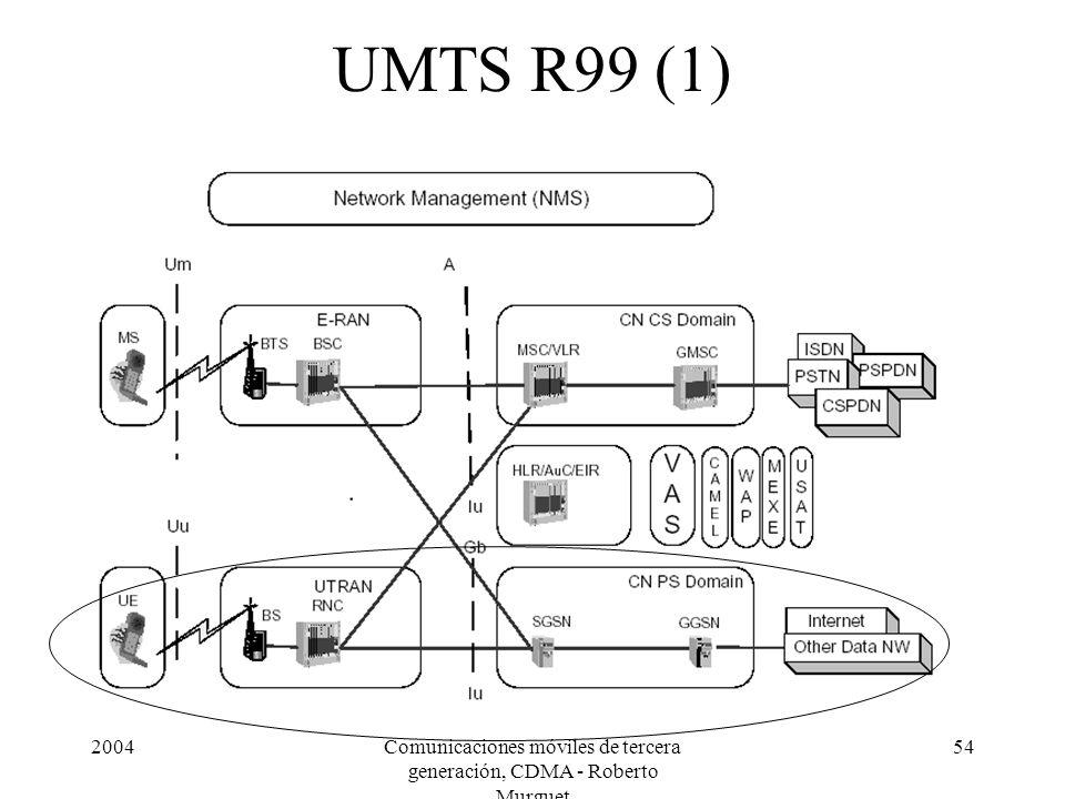 2004Comunicaciones móviles de tercera generación, CDMA - Roberto Murguet 54 UMTS R99 (1)