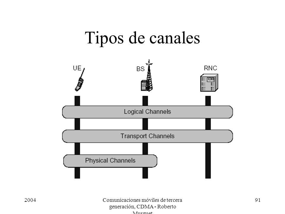 2004Comunicaciones móviles de tercera generación, CDMA - Roberto Murguet 91 Tipos de canales