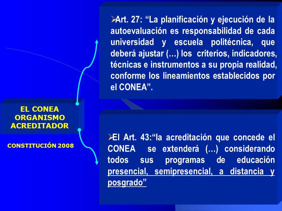 Al CONEA, como ente encargado de vigilar el aseguramiento de la calidad de la educación superior ecuatoriana, le preocupa que los programas de educación a distancia y virtual, cumplan con los referentes mínimos de calidad exigidos, independientemente de la modalidad.