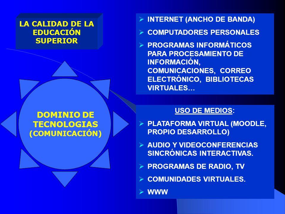 IGUALDAD DE OPORTUNIDADES PERTINENCIA INTEGRALIDAD SOBERANÍA POLÍTI- CAS AUTONOMÍA LA CALIDAD DE LA EDUCACIÓN SUPERIOR