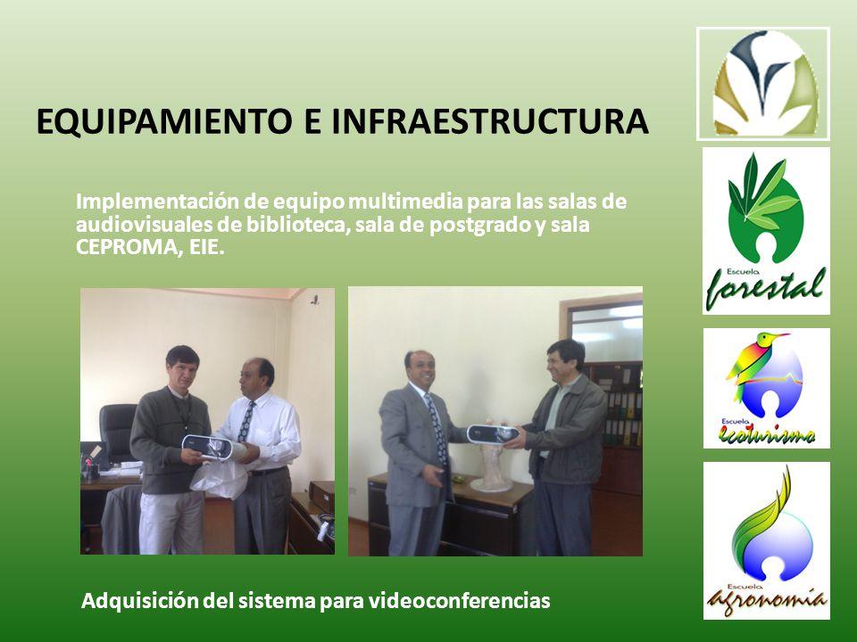 Implementación de equipo multimedia para las salas de audiovisuales de biblioteca, sala de postgrado y sala CEPROMA, EIE.