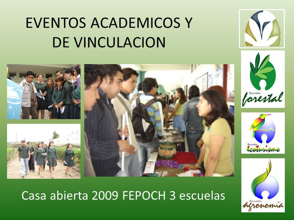 EVENTOS ACADEMICOS Y DE VINCULACION Casa abierta 2009 FEPOCH 3 escuelas